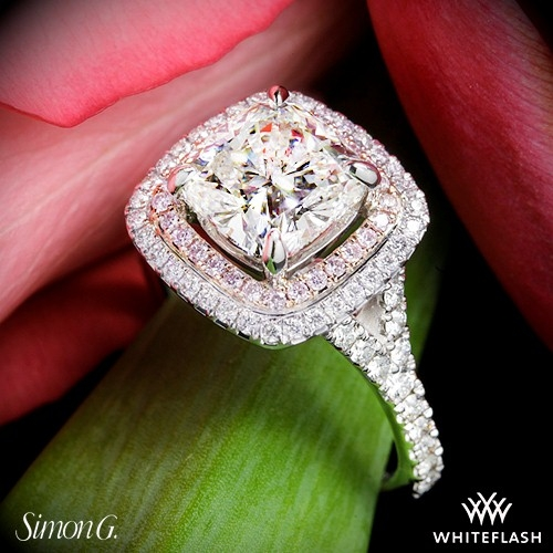 Simon G MR2459 Passion Diamond Engagement Ring