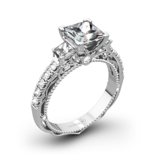 Verragio Venetian Lace AFN-5058P-4 Three Stone Engagement Ring for Princess