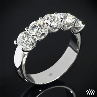 Skye Five Stone U-Prong Diamond Right Hand Ring - Setting Only
