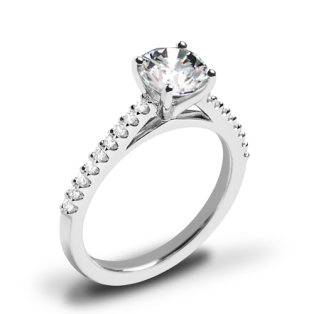 Valoria Cathedral Diamond Engagement Ring
