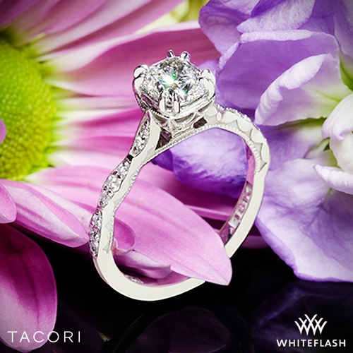 Tacori 57-2CU Sculpted Crescent Diamond Engagement Ring